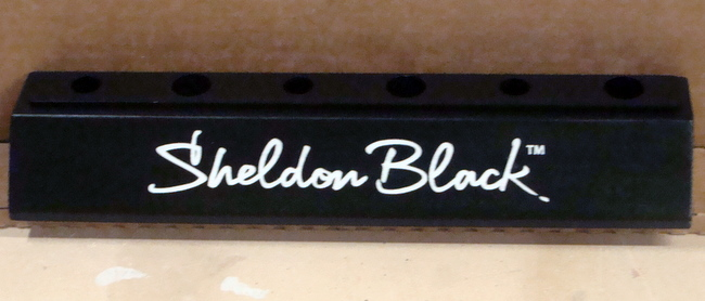 "SB28965 - Carved Engraved Carved  Thick Carved Cedar Wood Plaque ""Sheldon Black "" for a Store Display of the Brand"