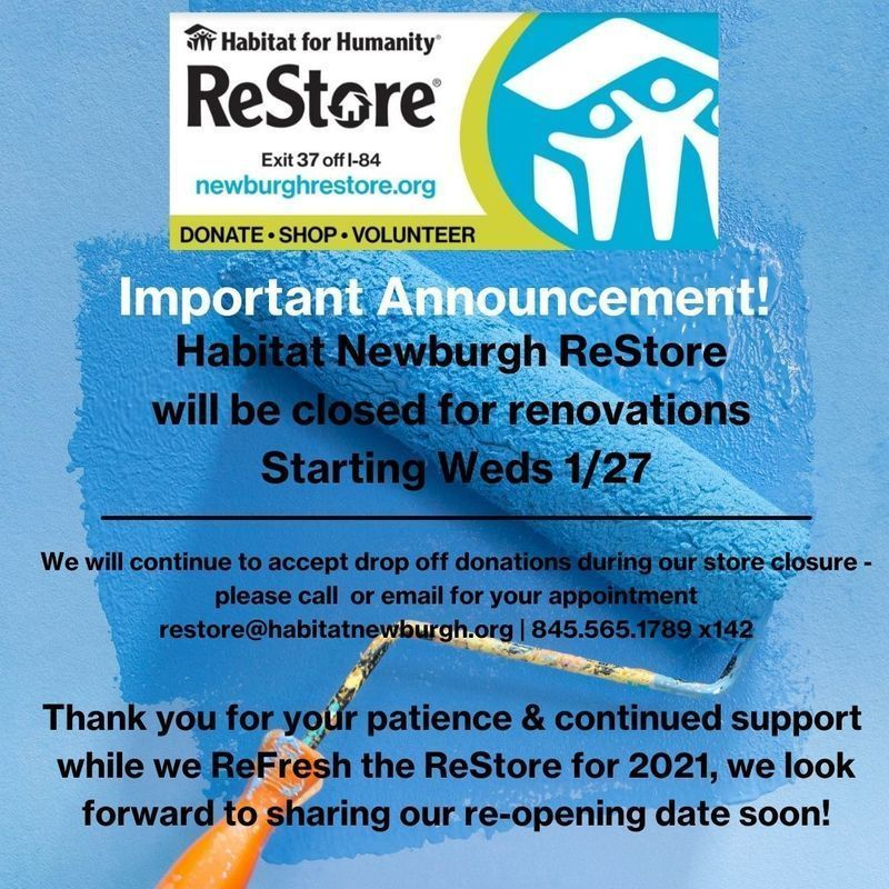 ReStore is Closed for Renovations