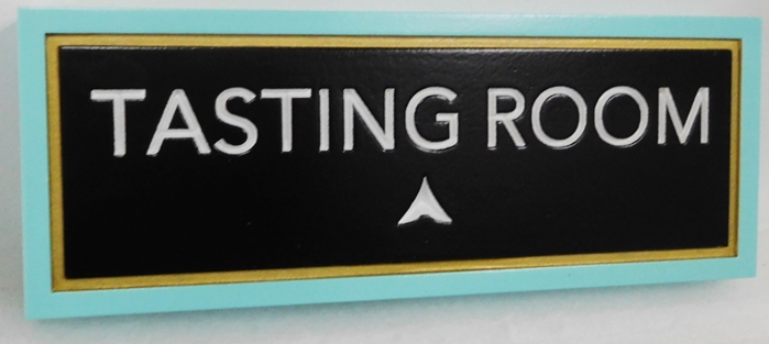 R27073 -  Tasting Room HDU Sign with  2.5-D Engraved Text and  Border.