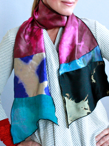 Crafting with the Southern Highland Craft Guild: Shibori Silk Scarves