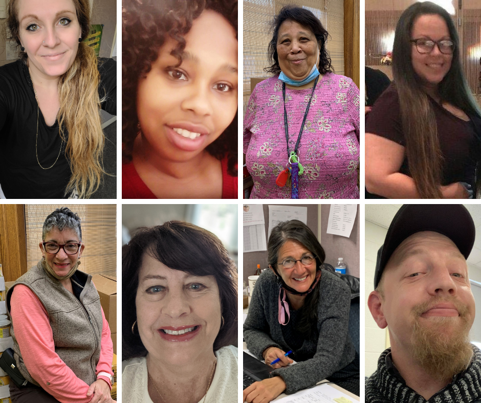 Collage-style photo showing 8 department staff.