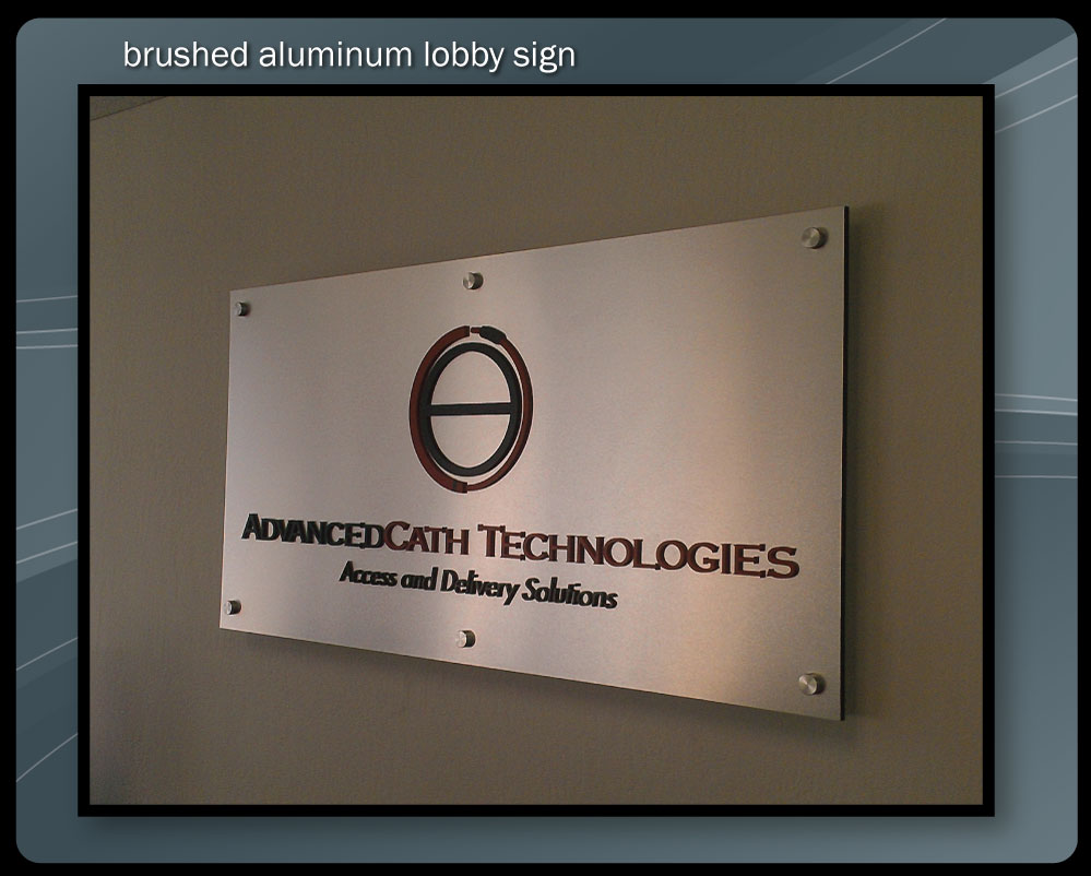 ALUMINUM LOBBY SIGN