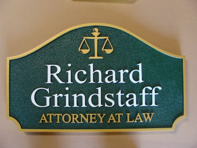 A10144 - Sandblasted HDU Wall Sign for Attorney