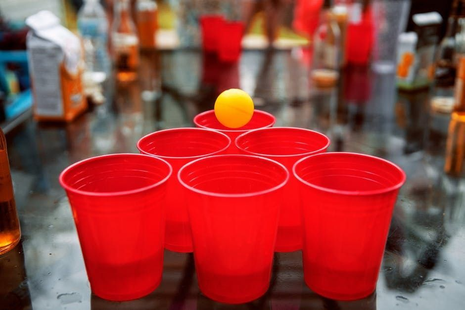 red cups of alcohol