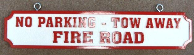 H17142 - Custom Fire Road Warning Sign