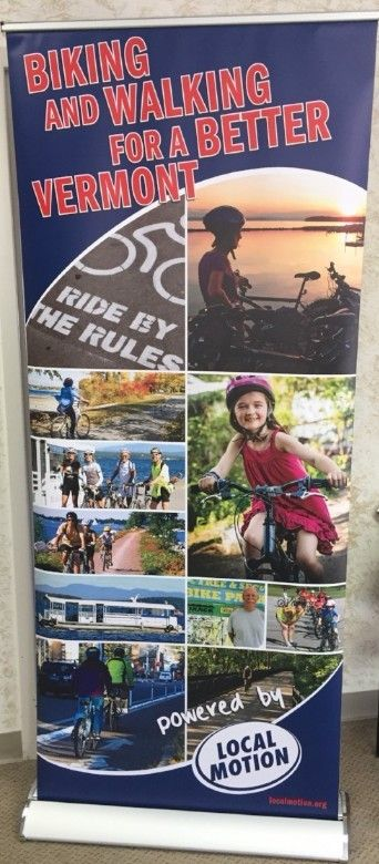 Local Motion banner stand