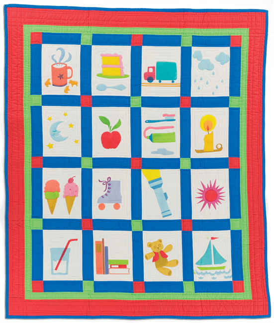 'No Dragons on My Quilt,' 1989, screenprinted, 29 x 45.5 in, IQSCM 2010.014.0017