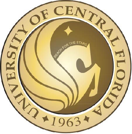 RP-1320 - Carved Wall Plaque of  the Seal of The University of Central Florida, Artist Painted