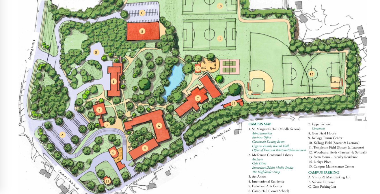 Chase Collegiate School Campus Map