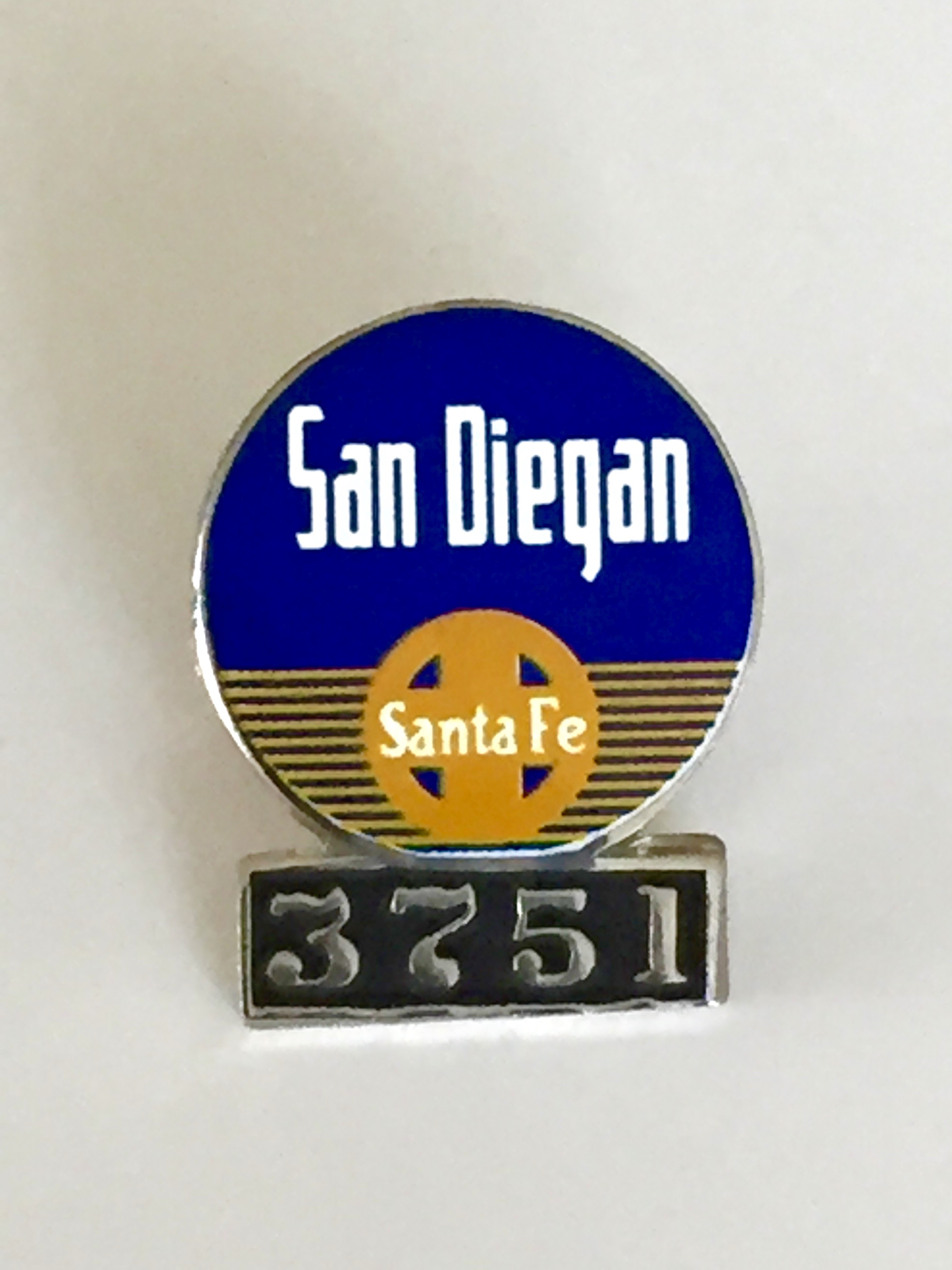 3751 - San Diegan Lapel Pin