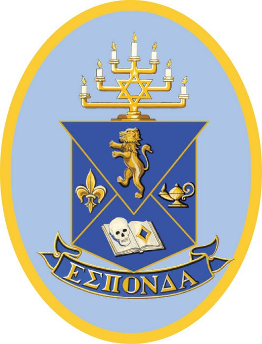 Y34520 - Carved 2.5D HDU Wall Plaque for Alpha Epsilon Pi Fraternity Coat-of-Arms