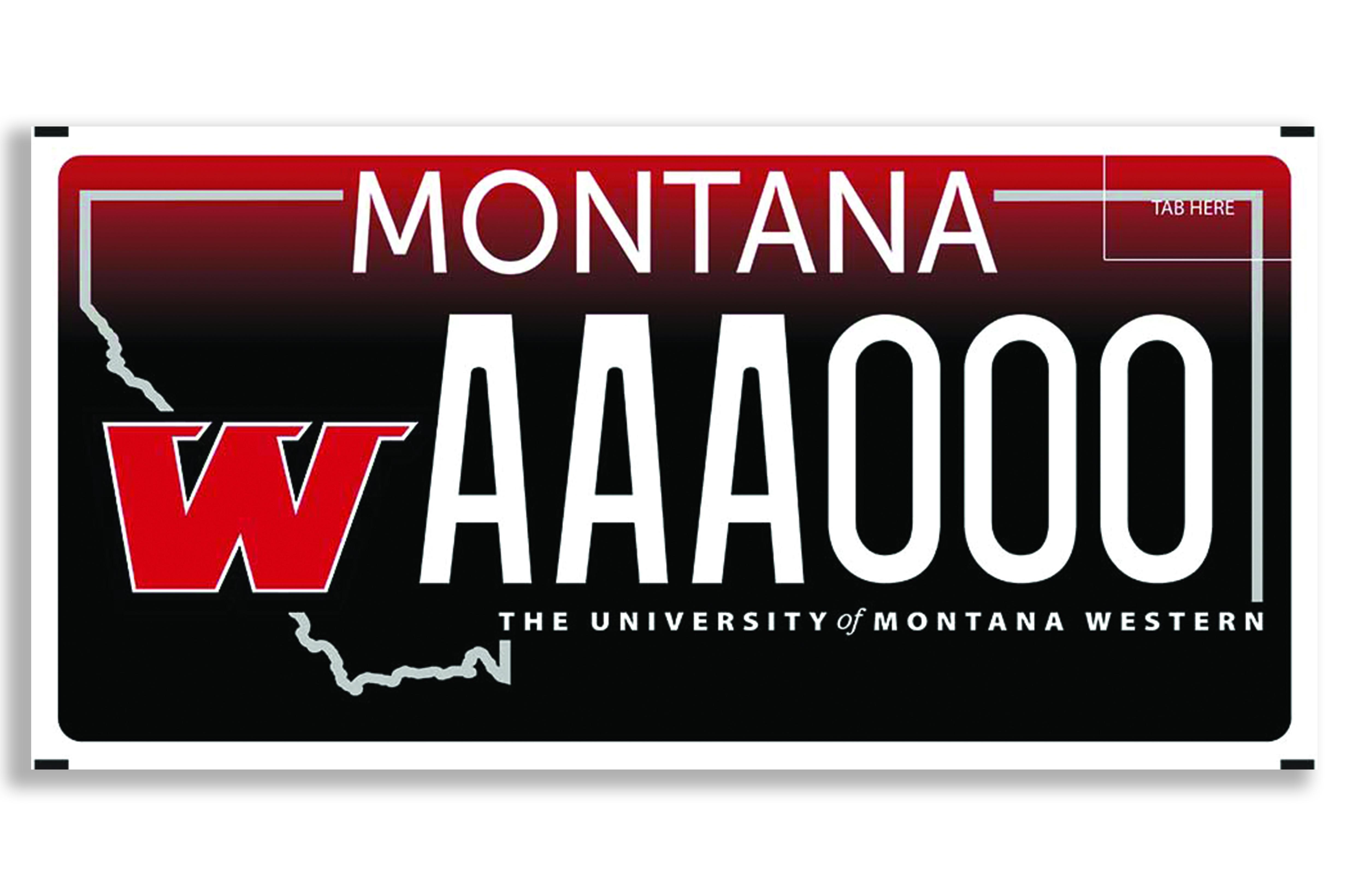 Montana Western License Plates