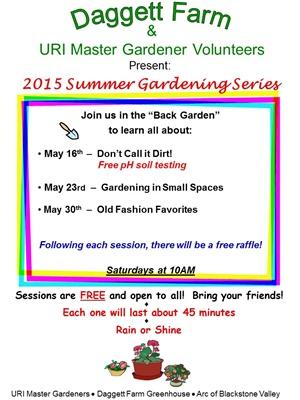 Daggett Farm Greenhouse To Host Summer Gardening Series