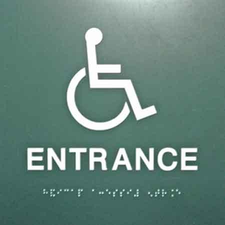 Braille-ADA sign