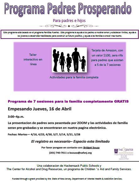 Programa Padres Prosperando (EN LINEA)