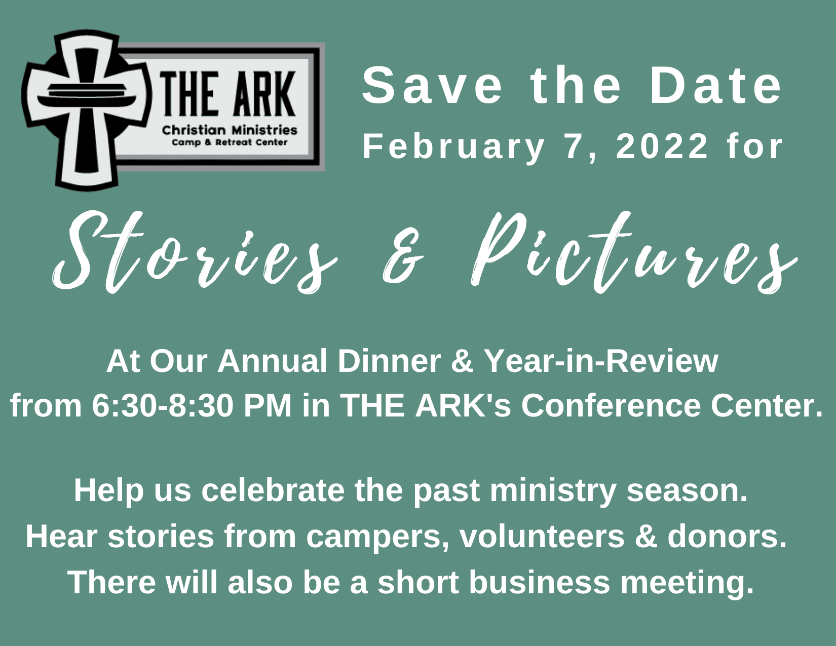 2022 Annual Dinner & Year-in-Review Save the Date