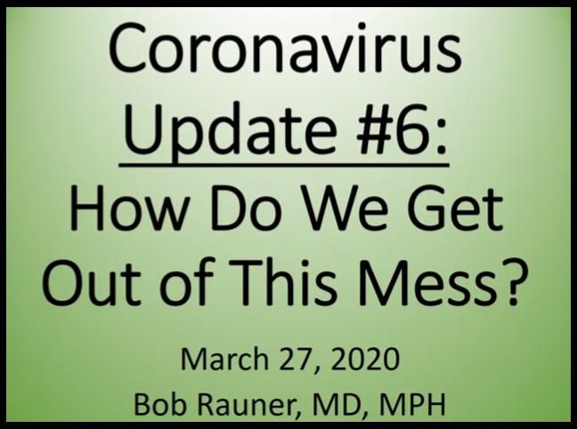 March 27, 2020 Update