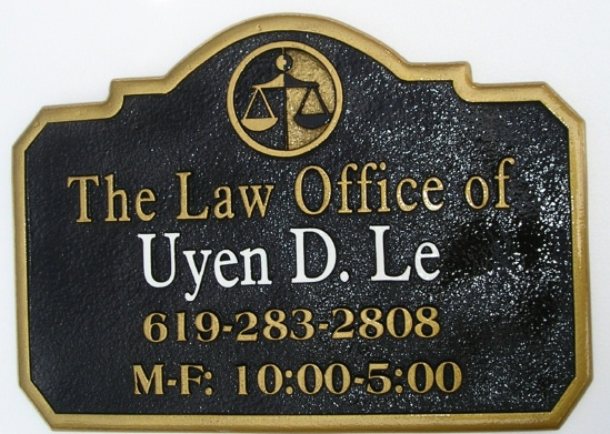 M1601 - Attorney and Law Office Wall Sign (Gallery 10)