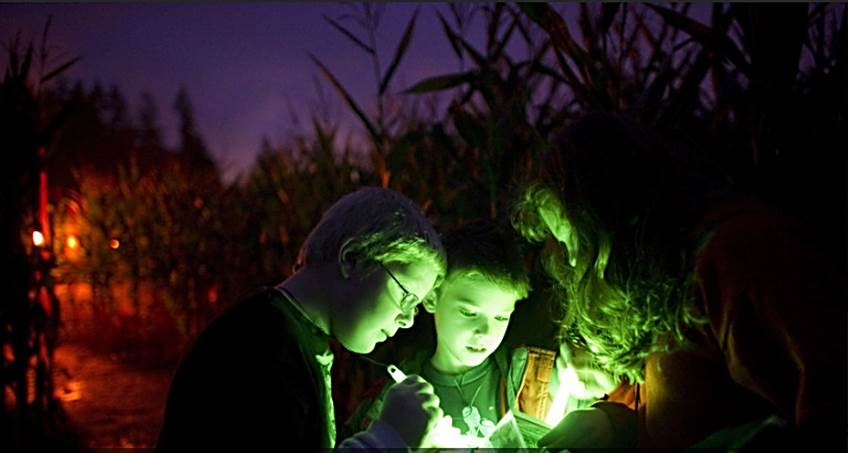 Flashlight Corn Maze Adventure