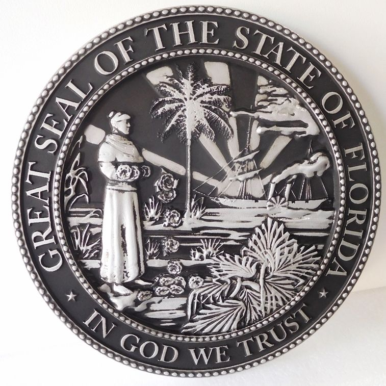 CC7070 - Great Seal of the State of Florida, Hand-rubbed