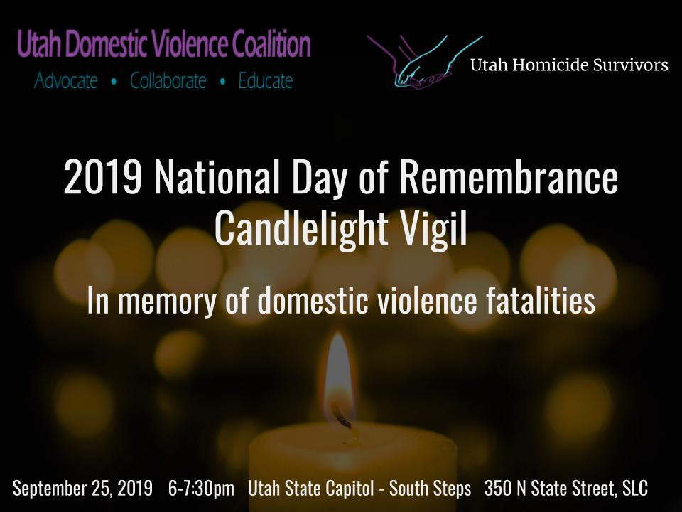 2019 National Day of Remembrance Candlelight Vigil