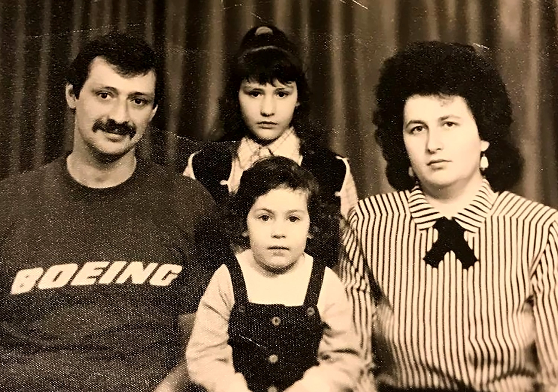 Zoya's family before leaving Belarus in midto late1980's.