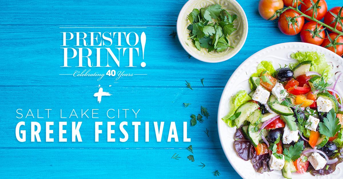 Presto Print and the Salt Lake City Greek Festival