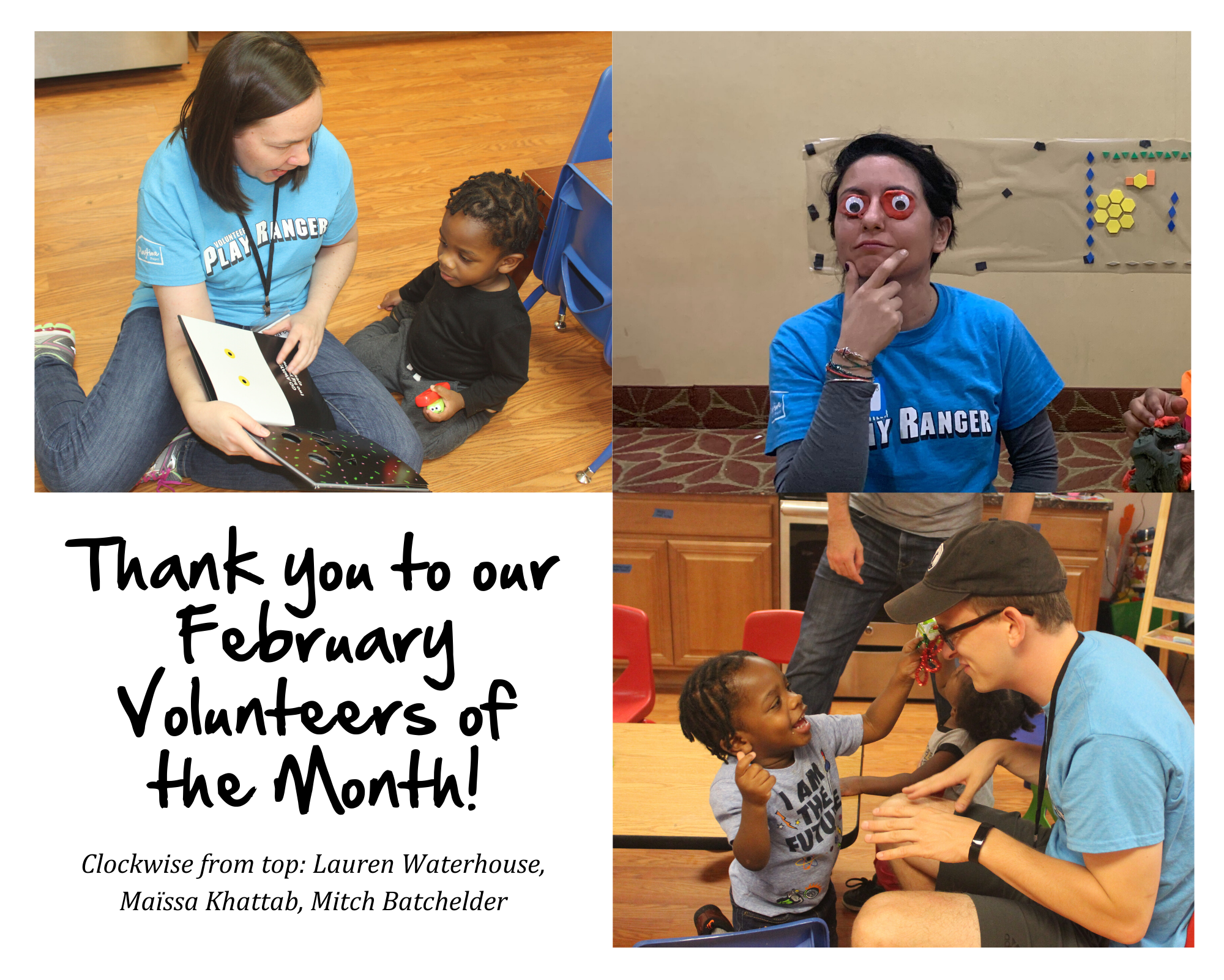 Meet All of Our February Volunteers of the Month