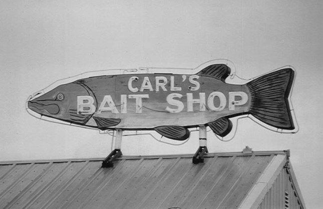 Donate | Save Carl's Bait Shop Neon Sign