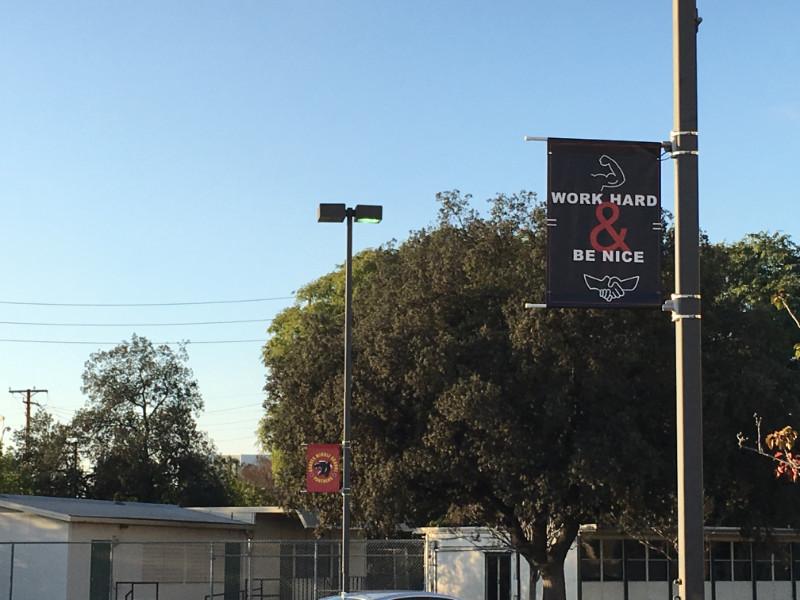School Pole Banners Whittier CA