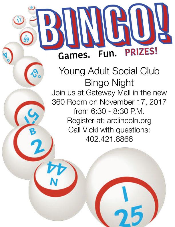 Young Adult Social Club Bingo Night