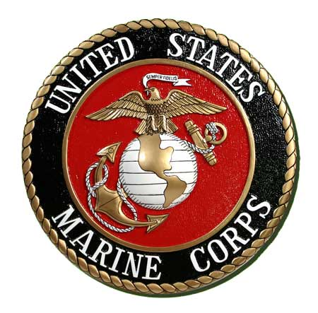 V31402 - US Marine Corps (USMC) Seal Wall Plaque