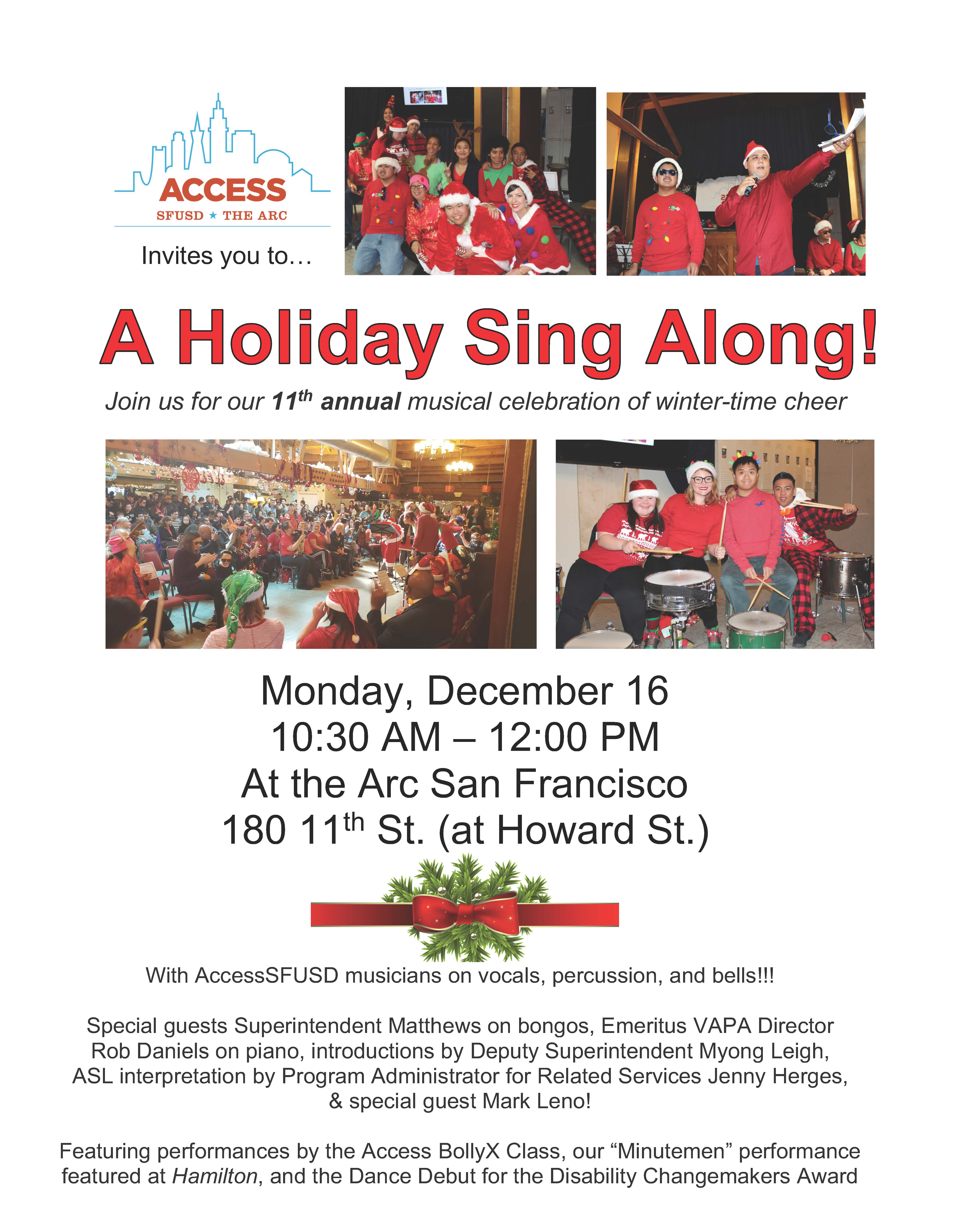 The Arc Holiday Sing-Along!
