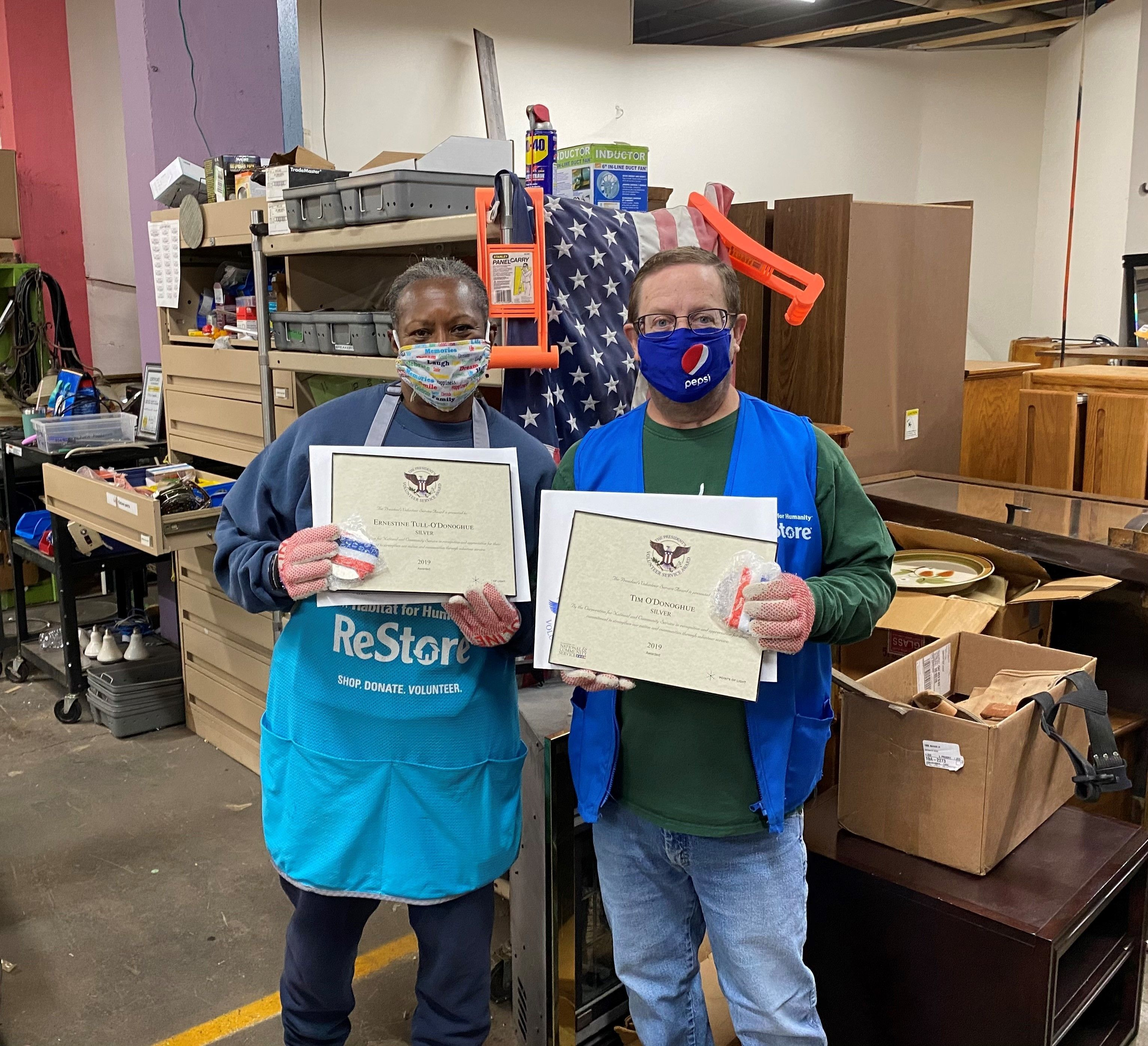 Dayton ReStore Volunteers Garner Presidential Recognition