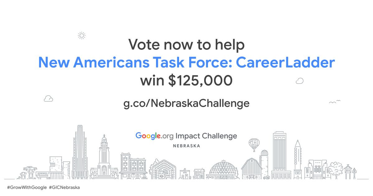 VOTE NOW! Help us connect Lincoln's immigrants and refugees to high-skill and high-wage career pathways and win the $125,000 challenge.