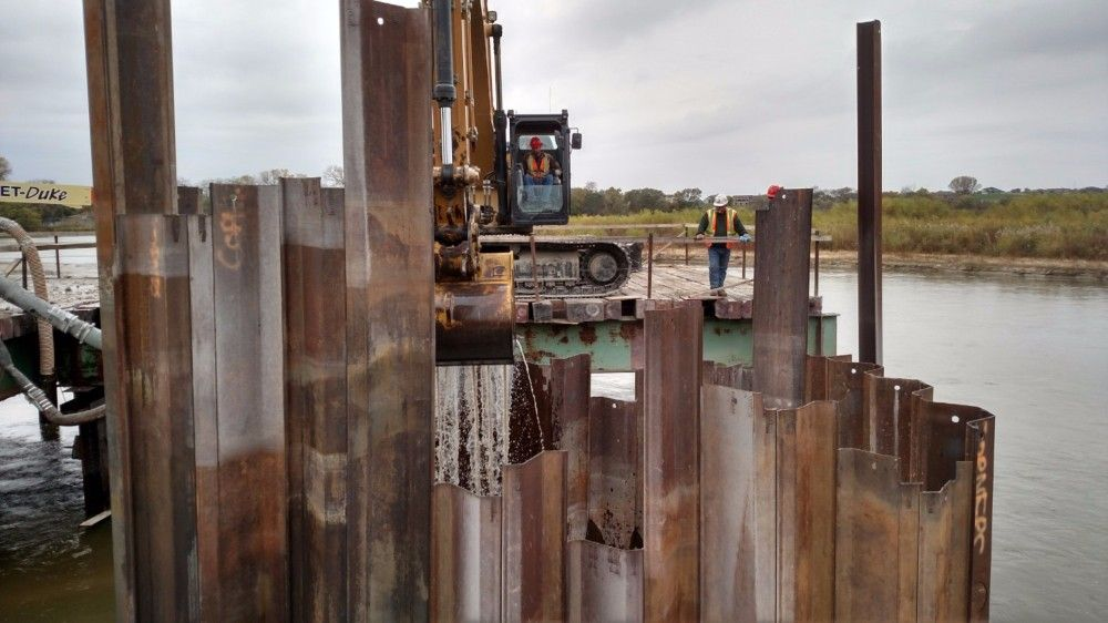 Final pieces of pier 5 being removed