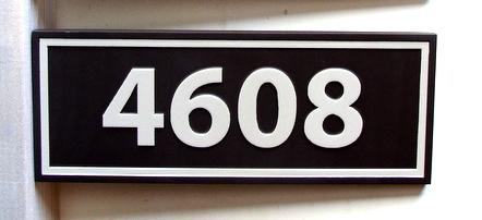 I18898 - Carved HDU House Address Number Plaque