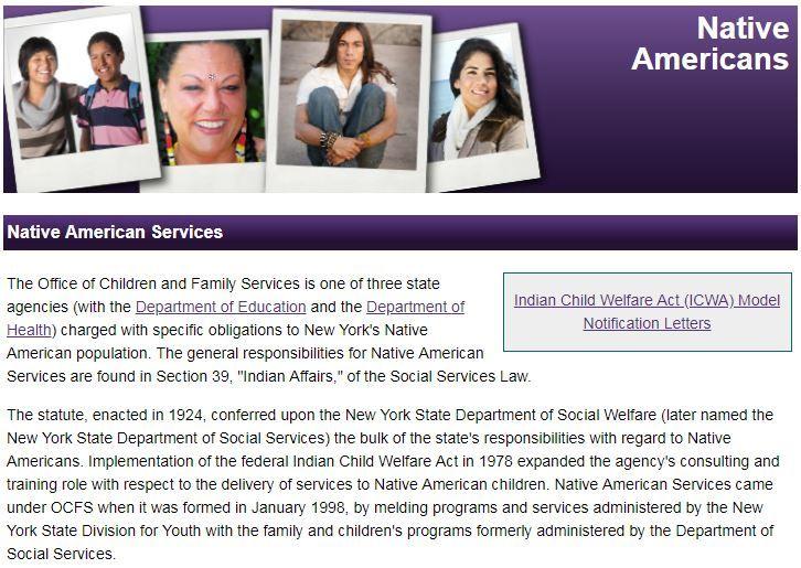 OCFS Native American Services