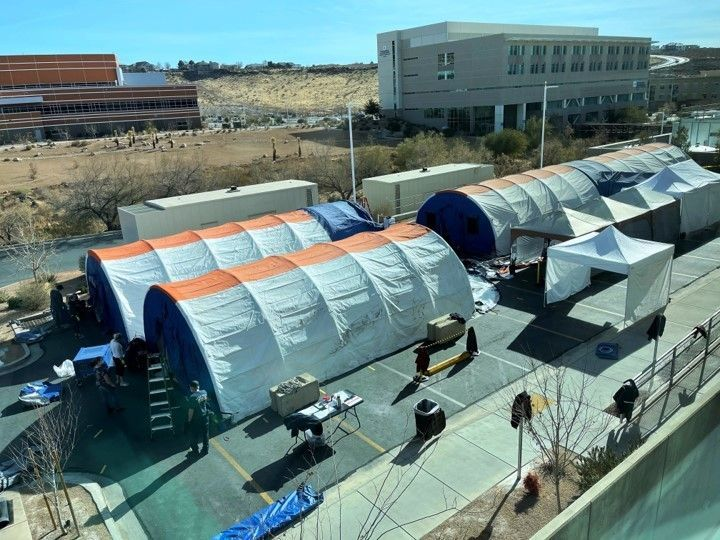 Creek Valley COVID-19 Tent Setup