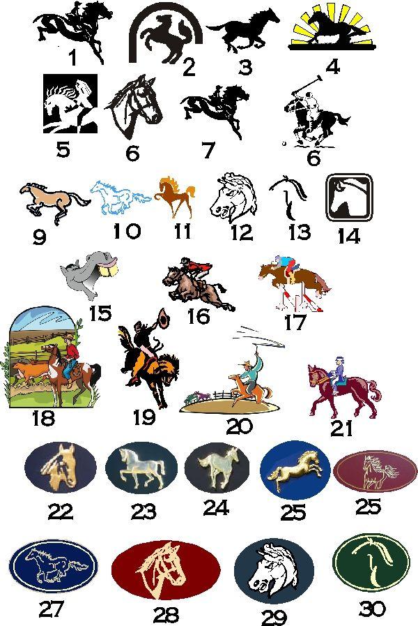 P25850 - Art Samples of Horse, Equine or Equestrian Art