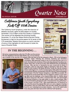 November 2017 Quarter Notes