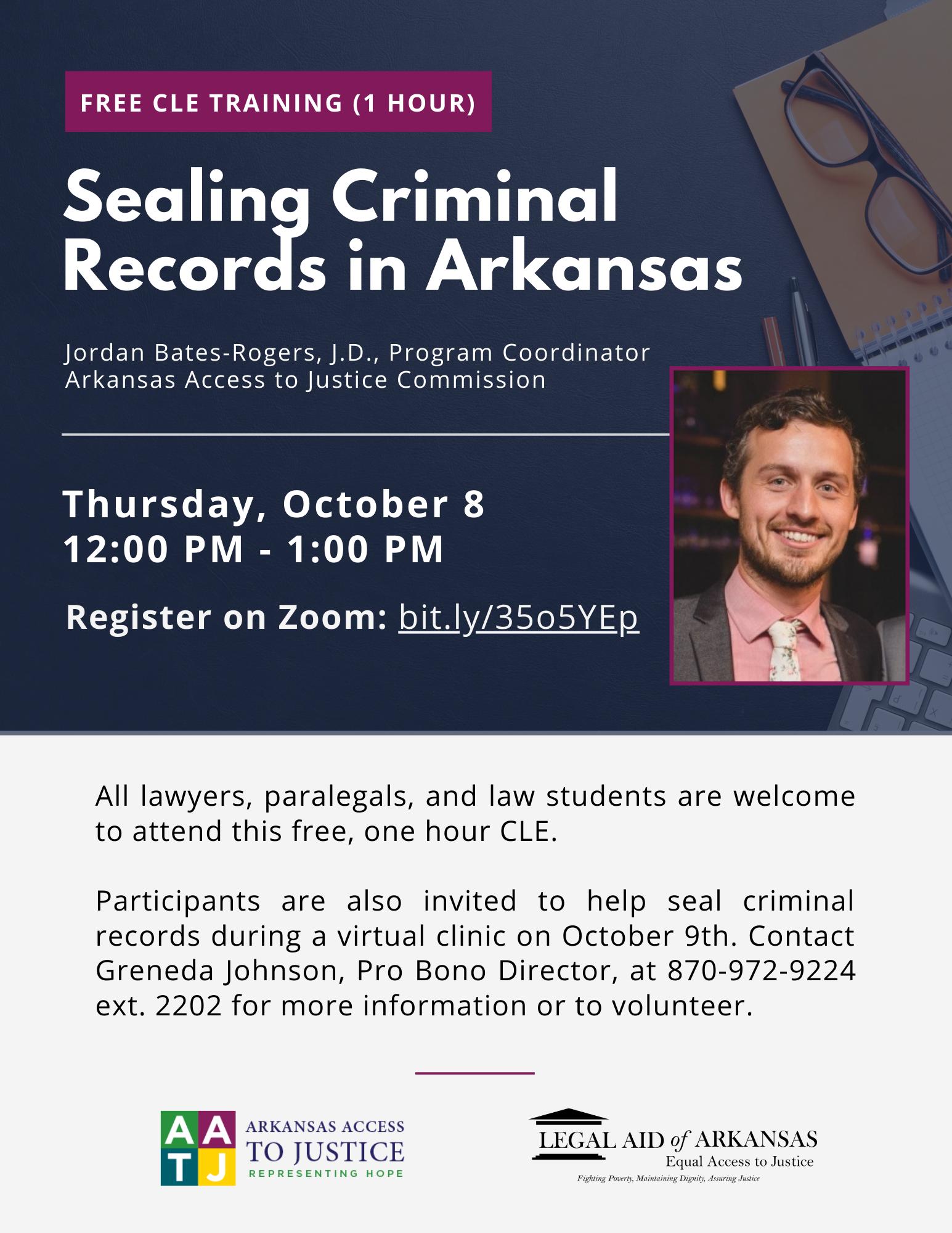 Sealing Criminal Records in Arkansas (1.0 CLE)