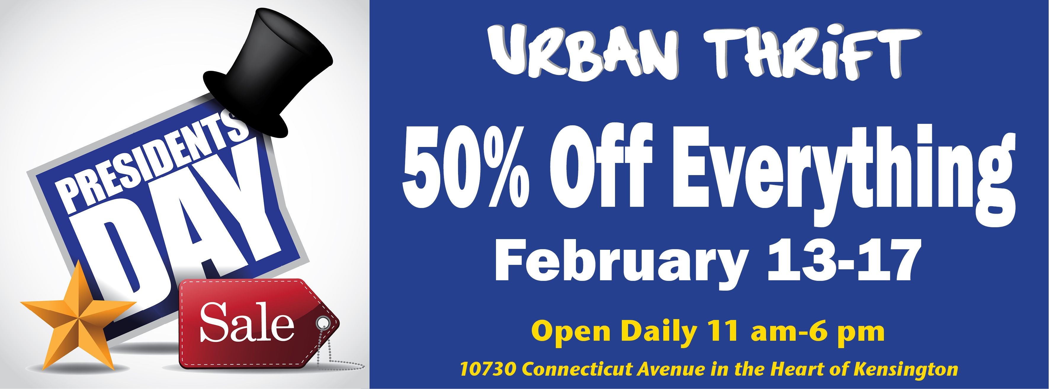 Urban Thrift President's Day Sale