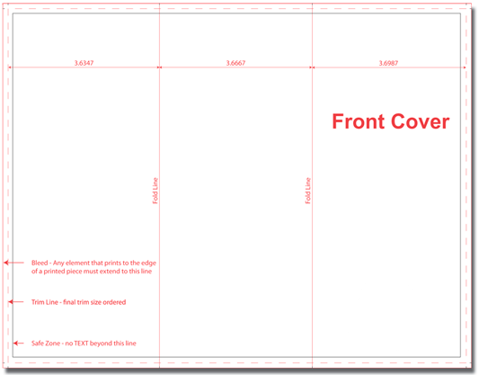 Download Our 8.5 x 11 Tri-Fold Brochure Template