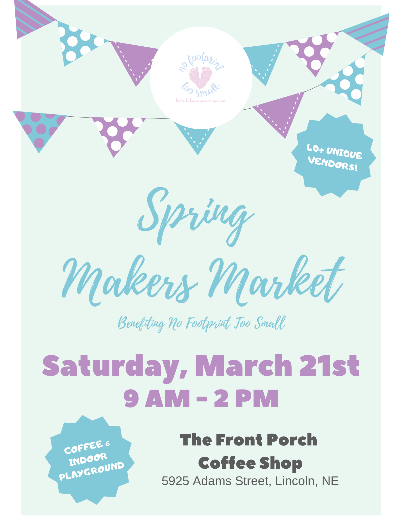 NFTS Spring Makers Market @ The Front Porch Coffee Shop