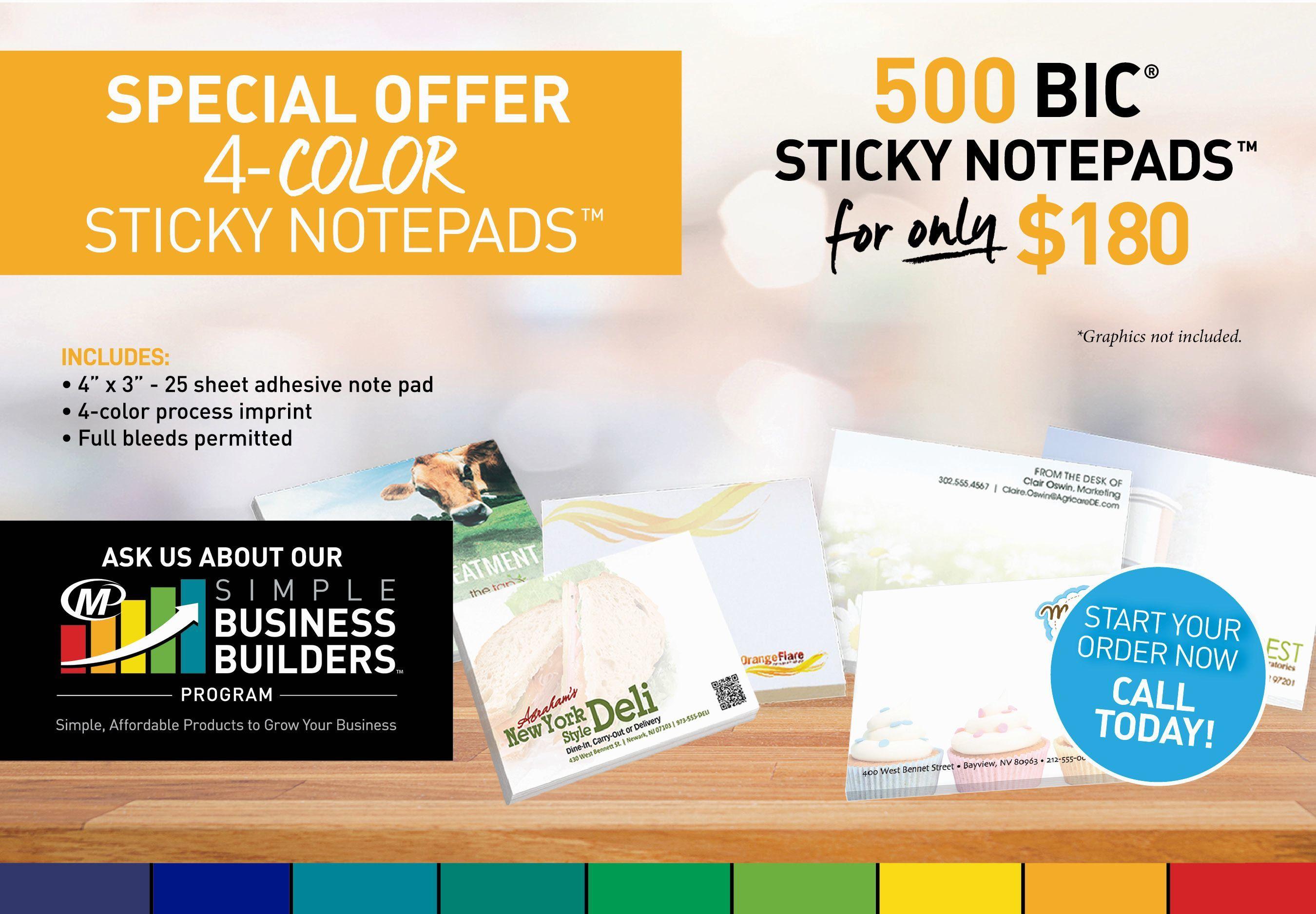 Special Offer on Sticky Notepads