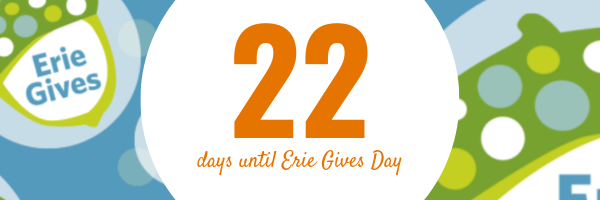 July 22, 2019 Erie Gives email reminder: 22 days until Erie Gives 2019!