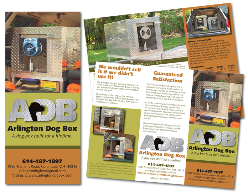 Ohio Based, Arlington Dog Box LLC - Trifold Brochure