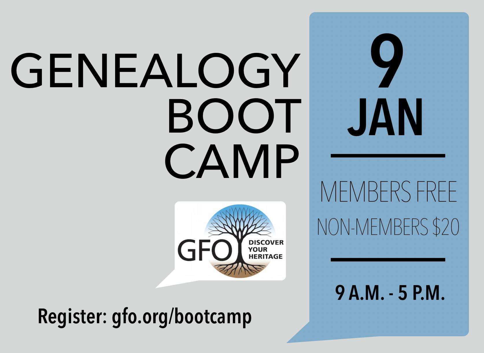 Genealogy Beginners' Boot Camp