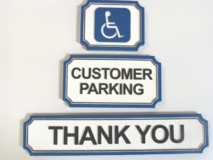 H17358 - Custom Wooden Parking Signs